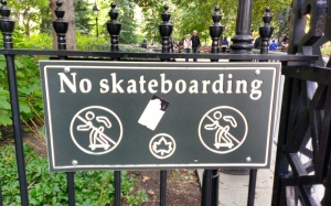 I'd be happy to help the Parks Department enforce this rule by barking with abandon at any scofflaws.