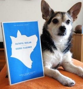 Albert the Dog with Book