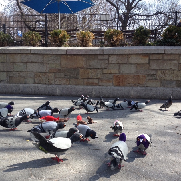 Pigeon art in Union Square